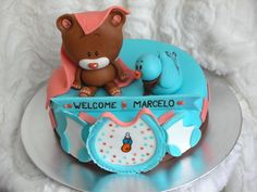 Baby Shower Cake inspired by Invitation