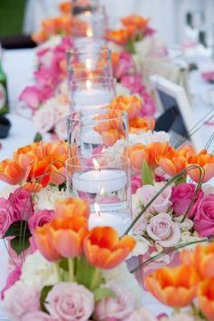 Pink & Orange flowers