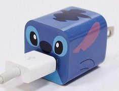 Ultimum Vitae:Disney Apple iPhone Power Adapter Skin Sticker Decoration Wrap - Sticker Only Not Include USB (Stitch) Lelo And Stitch, Lilo Y Stitch, Cute Stitch, Disney Stitch, Cute Disney, Disney Art, Disney Stuff, Apple Iphone 5, Iphone 7