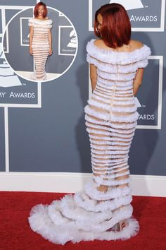 Rihanna in Jean Paul Gaultier at the 2011 Grammys