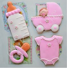 i want to do onesie cookies so bad! Iced Cookies, Cute Cookies, Easter Cookies, Cookies Et Biscuits, Cupcake Cookies, Cupcakes, Sugar Cookies, Baby Girl Cookies, Onesie Cookies