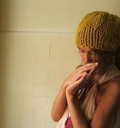 Yellow hat Mustard Yellow beanie hand knit hat mustard by ileaiye