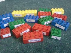 Flame: Creative Children's Ministry: Endurance memory verse with duplo!