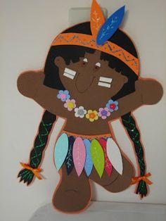 Atelier de Arte e Artesanato Katy Kanguru: Enfeite para porta Dia do Índio