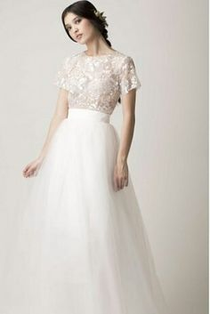 2-piece wedding dress