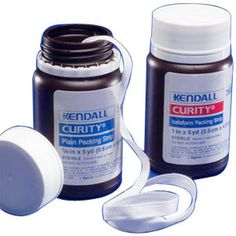 """BO/5 - Curity Sterile Plain Packing Strip 2"""" x 5 yds."""