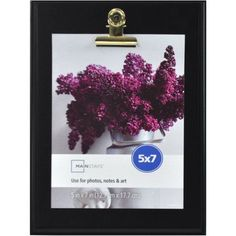 Mainstays 5x7 Clip Picture Frame, Black