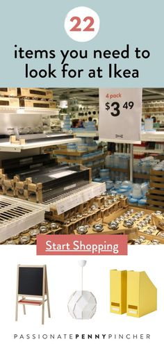 Ikea is a great way to score inexpensive new home decor. Here's a peek at 22 items you need to watch for at Ikea! Frugal Living Tips, Frugal Tips, Make Money From Home, How To Make Money, Shop For Less, Amazon Hacks, Earn Money Fast, Best Savings, Create A Budget