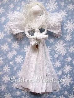 Tulle Christmas Trees, Christmas Angel Crafts, Victorian Christmas Ornaments, Diy Angels, Angel Ornaments, Garland, Diy Crafts, Awesome, Super Easy
