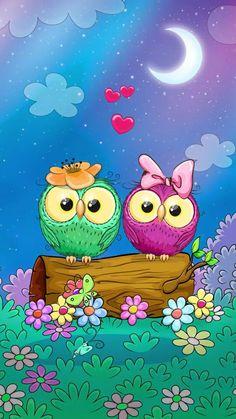 Owl Clip Art, Owl Art, Cellphone Wallpaper, Galaxy Wallpaper, Cute Owls Wallpaper, Beautiful Flowers, Beautiful Pictures, Cute Cartoon, Cute Wallpapers