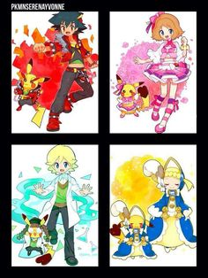 Beautiful ♡ Ash and his Kalos friends ^.^ ♡ I give good credit to whoever made this