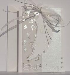 Einladungskarten - Einladung mit Flügeln zur Taufe Kommunion Konfirma - ein Designerstück von happy-papers bei DaWanda