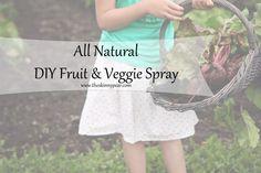 All Natural DIY Fruit & Veggie Spray #detoxyourhome #oilyfamilies #youngliving