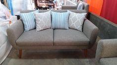 Sofa Scandinavian 2 Seater Murah.  sofa ini kami produksi dengan menggunakan bahan baku kayu Jati Perhutani.
