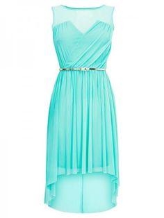 Tiffany blue high low dress