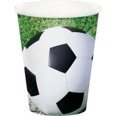 Party Creations Sports Fanatic Soccer, Hot/Cold Cups, 9 Oz, 8 Ct, Multicolor