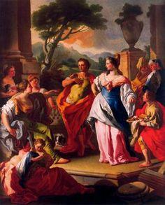 Ciudad de la pintura -MURA, Francesco de Italian (1696-1782)_Aquiles con las hijas de Licomedes 1696-1782