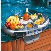 Floating Pool Bar Float Tray Spa Party Inflatable Hot Tub Snacks Drink Holder for sale online Hot Tub Bar, Hot Tubs, Mini Bars, Whirlpool Bar, Hot Tub Accessories, Hot Tub Patio, Spa Bar, Floating, Pool Toys