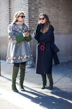 Nasiba Adilova and Miroslava Duma in Gabriela Hearst boots - Chanel Salzburg 2015 coat
