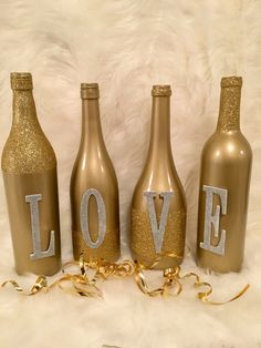 All in the name of LOVE✨ #diy #winebottle