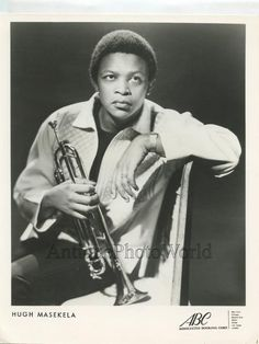 This is an original vintage photograph. Not a modern reproduction.Origin: USASize: 8 by 10 inchesAge: Hugh Masekela, Jazz Players, Trumpet Players, Jazz Artists, Music Photo, Jazz Music, Drawing Poses, My Princess, Vintage Photographs