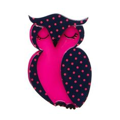 Olive Owl (Erstwilder Fuschia Resin Brooch), now available. Hand assembled and hand painted, presented in a branded box. Birthday Gifts For Women, Christmas Gifts For Women, Bird Jewelry, Gifts For Pet Lovers, Pin Up Style, Plexus Products, Vintage Accessories, Handicraft, Kitty