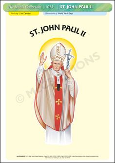 St. John Paul II - 22 October #SaintsDay - Poster A3