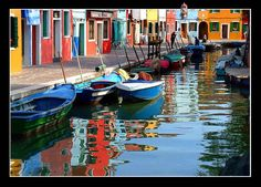 Colorful waterway