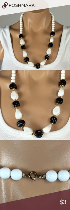 Vintage Black and White Necklace Bundle 3 or more items and Save 20%  - 2919 Jewelry Necklaces