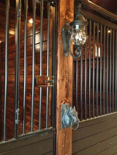 Coach Lights on Stalls and Horse Head Cross Ties