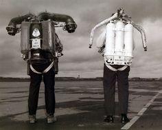 Rocket Belts and Jet Belts - side by side