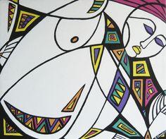 Costrizione (Duress), acrylic on canvas, 60x70cm, 2007