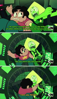 Steven Universe, this part was so adorbale, Peridot and Steven