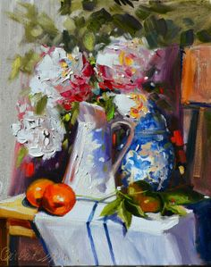 FRENCH STILL LIFE painting. Original art work. by CECILIA ROSSLEE Art Floral, Original Artwork, Original Paintings, Oil Paintings, Art Oil, Painting Inspiration, Flower Art, Still Life, Art Photography