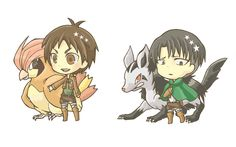 If Attack on Titan characters were Pokemon trainers. Part 1.