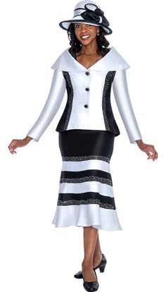 GMI G5392 Black / White - Womens Church Suits