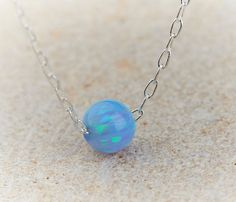 Opal pendant Ball necklace Opal jewelry Opal by HLcollection