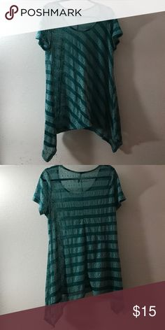 Yummy Short Sleeve Blouse Gently used short sleeved Blouse Yummy Tops Blouses