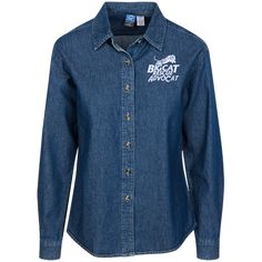 Just added this new Logo AdvoCat Wome... Check it out! http://catrescue.myshopify.com/products/logo-advocat-womens-custom-embroidered-long-sleeve-denim-shirt?utm_campaign=social_autopilot&utm_source=pin&utm_medium=pin