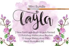Mini Bundle Font Layla only $16 by mr.rabbit on Creative Market