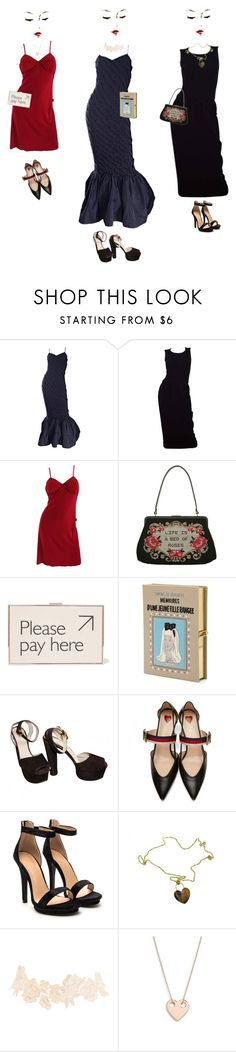 """An Evening To Remember"" by louiseabunn ❤ liked on Polyvore featuring Lulu Guinness, Chanel, Gianfranco Ferré, Anya Hindmarch, Olympia Le-Tan, Prada, Gucci, Roberto Coin, Charlotte Russe and Ginette NY"