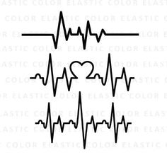Heartbeat svg - ekg svg - heartbeat line clipart - cardiogram svg file cut file for silhouette cameo and cricut svg, png, dxf, eps Cover Up Tattoos, Line Tattoos, Small Tattoos, Sleeve Tattoos, Tattoo Pai E Mae, Blitz Tattoo, Pulse Tattoo, Heartbeat Line, Tatoo