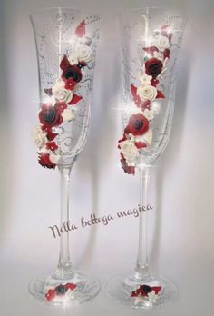 Calici matrimonio handmade