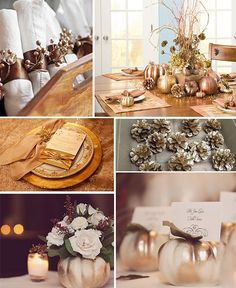 35 Gold Thanksgiving Décor Ideas | DigsDigs