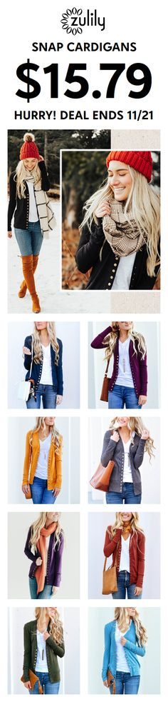 51adf535498 Sign up to shop snap cardigans for  15.79. Layer your look with