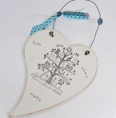 Handmade, personalised heart