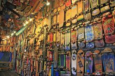 Indoor Skatepark and Skateboarding Hall of Fame Museum Old Shool, Skate Decks, Wall Finishes, Skate Park, Wyoming, Surfing, To Go, Indoor, Cool Stuff