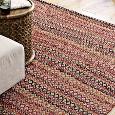 """This sensational, earthy rug is the  Albertina Rug on westelm.com.  I LOVE the current trend of mixing modern furniture and fixtures with more natural elements. West Elm has a whole slew of fabulous organic accessories that would go great with this rug...great """"jumping off"""" point!"""
