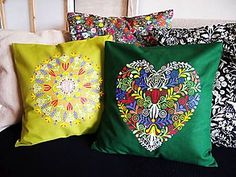 Folk style pillows