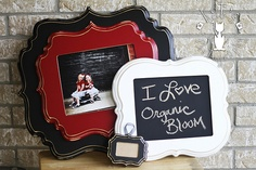 cute frames turned into chalk boards!